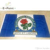 Inglaterra blackburn rovers fc 3 * 5ft (90 cm * 150 cm) poliéster EPL bandeira bandeira decoração voando home jardim bandeira bandeira presentes festivos