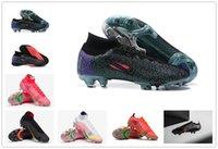 선물 가방 망 높은 탑스 축구 부츠 CR7 Mercurial Vapores XIV 잠자리 14 엘리트 FG Cleats 야외 Neymar Acc Superfly VIII 축구 신발