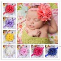 Baby Mädchen Stirnband Neugeborene Stirnbänder Shabby Chic Blume Haarband Spitze Stirnband Haarschmuck HWB6203