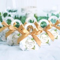 Gift Wrap Wedding Souvenirs Candy Box With Ribbon Packaging Boxes Birthday Party Christmas Baby Shower Favors
