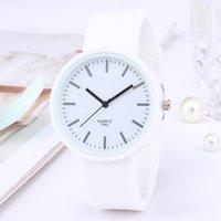 デザイナーの高級ブランドの時計ファッションシンプルなES女性白い手首韓国のシリコーンクォーツギフト安い価格ドロップシッピングReloj Mujer