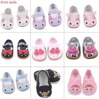7cm High-quality Bow Cartoon Skull Pattern Mini Shoes For 18 Inch American And Baby New Bron Dolls Toy