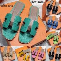 2021 مصمم أنيقة المرأة الصيف الصنادل الكلاسيكية الشريحة النعال السيدات الفاخرة جلد طبيعي الكعوب الوجه flopsflat حذاء وهران صندل PDWXQ #