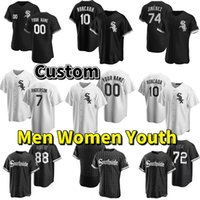 2021 City Connect 7 Tim Anderson Player Jersey 74 Eloy Jimenez 79 Jose Abreu 46 Craig Kimbrel Luis Robert Yoan Moncada Black Custom Baseball Jerseys Men Women Kids