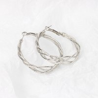 Charm European Normcore Exaggerated Twisted Multi Circles Hoop Earrings For Women Geometric Round Fashion Jewelry Gift 1266 B3