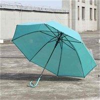 جديد makaron اللون مظلة شفافة سوبر كبير مستقيم مقبض طويل التلقائي مظلات أندبروف الرجال المطر أناقة الأعمال HWD6653
