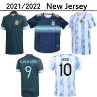 2021 2022 Argentina Casa Away Soccer Jersey 21 22 Messi Dyba Adult Football Camicie Aguero Icardi Mascherano Camiseta de Futbol