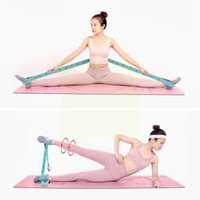 Resistance Bands Yoga Pull Strap Belt Lengthened Latex Elastic Loop Dance Band Stretching Pilates Fitness Latin P7W7