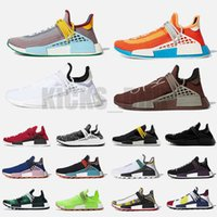 Extra Pharrell Williams Nmd Human Race Mens Running Shoes Chocolate Dash Green Solar Pack Women Men Trainers Outdoor Sports Sneakers With