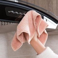 Cleaning Cloths 1pc Home Coral Fleece Towels For Kitchen Absorbent Thicker Cloth Household Towel Wipe Table
