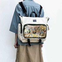 ita 가방 배낭 여성을위한 클리어 포켓 대용량 소녀 투명 어깨 이탈 숄더 이탈라 바그 클리어 디스플레이 거리 배낭 H203 210907