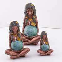 2021 Arti e mestieri Madre Terra Statua tridimensionale Ornamenti in resina Gaia La dea dell'arte Tre dimensioni