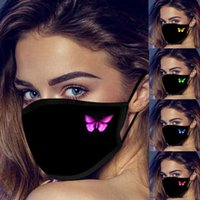 Us Stock Adults Designer Face Mask Butterfly Print Breathable Fashion Masks Dust Fog Women And Men Cotton Cloth Pure Black mask