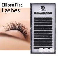False Eyelashes LASHPLUS Flat Ellipse Lashes With Split Tips Soft Silk Eye Matte Eyelash Extensions Individual Lash
