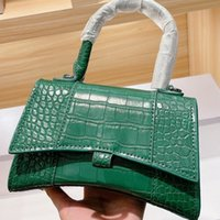 2021 Frauen Handtaschen Sanduhr Tasche Big B Classic Krokodil Muster Kreuz Körper-Tasche Dame Mode Handtasche Kreuzkörpertasche Luxus Designer Damen Umhängetaschen