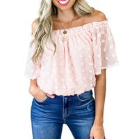 Summer Women T-Shirt Short Sleeves Lace Chiffon Blouse Fashion Sexy Female Tees Ladies Tops White Pink Colors Size M-2XL
