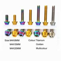10 stücke Titanium-Legierung Verjüngte Kopf Sechskant-Sockel Schrauben Bolzen M4 * 8/15 / 20mm Factory Direct Sales T09T