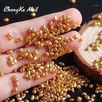 Hisenlee Mine Gold Color Stone 3D Nail Art Rhinestone Small Irregular Beads 20g Manicure Nails Decoration1