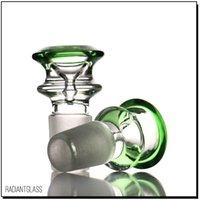 Glass bowl male double layers with a glass dabber kit bong accessory cone smoking pipes for 14mm 18mm joint