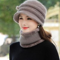 Beanies Women Winter Fur Lined Hats With Scarves Warm Keeping Cap Warmth Set Fashion Hat For Casual Female Knitted Bucket Caps