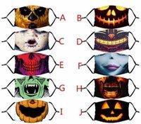 Yeni Cadılar Bayramı Maskesi Yeniden Kullanılabilir 3D Kabak Grameace Güvenli Koruma PM2.5 Karbon Filtre Yıkanabilir Yetişkin ve Çocuk Ağız Maskesi
