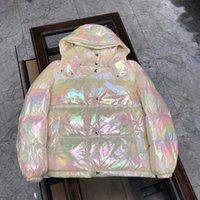 Gloss Bianco Giacca Giacca Giacca Designer Inverno Parka Cappotti di alta qualità Cappotti Colorati Giacche Laser Colorati Moda Collo rotondo Donne Verdanaio Abbigliamento caldo