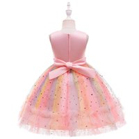 Girl's Dresses Baby Girls Pageant Lace Embroidery Toddler Formal Dress Princess With Headwear 2021
