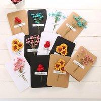 Cartões Cartão 3d Cartão de Aniversário Falso Rosa Flores Girassóis Gypsophila Casamento Convites 1 Pc Preto Branco TM370