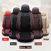 Car Seat Covers Universal Leather Cover Summer Cool Cushion Breathable Ice Silk Racing Auto Pad Headrests Waist-Pillows