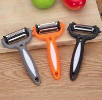 과일 야채 Graters 스테인레스 스틸 당근 감자 필러 커터 슬라이서 쉬운 주방 도구 3 in 1 회전 블레이드 슬라이스 owf10680