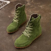 Boots 2021 Spring And Autumn Flat With Suede Fashion Sweet Lace Female Booties Wild Women's Shoes