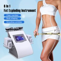Máquina de emagrecimento de alta qualidade 40K Cavitação de lipoaspiração ultra-sônica 8 pads laser vácuo RF cuidados de pele de pele de salão de beleza spa