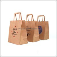 Gift Event Festive Supplies Home & Gardengift Wrap Kraft Paper Sacks Takeaway Handbag Thank You Bags Christmas Party Bag Drop Delivery 2021