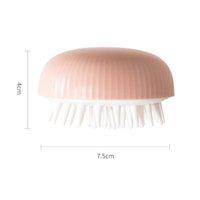 Silikonkopfkörper Kopfhaut Massagebürste Kämme Shampoo Haarwaschkamm Duschbürsten Bad Spa Abnehmen Massagen Liefert OOD6433