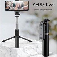 2020 Новый 1 м Удлините 3 in1 Беспроводной Bluetooth Selfie Stick Расширяющийся портативный Монопод Складной Мини Штатив с удаленным затвором 210420
