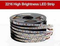 100 м / лота Высококачественная светодиодная полоса 2216 12V 120LED / м 9,6 Вт / м 24V 3001 / м 24 Вт / м 3000К 4000K 6000K высокая яркость светодиодного света