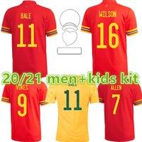 20 21 Jersey de futebol Away James Wales Home Bale Camisa de Futebol Futebol Ramsey Uniforme 2021 Men + Kit Kids Vokes Allen B.Davies