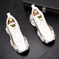 Moda uomo scarpe casual da uomo in pizzo alta-top mocassini di lusso designer all'aperto traspirante snakers skateboard bianco sneakers UE Dimensione 38-43 B63
