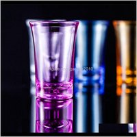 Glasses S Acrylic Party Ktv Wedding Game Cup For Whiskey Vodka Bar Club Beer Wine Glass 35Ml Gift Bottle Ee2834 Pecqg Ynsgt