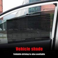 Ventana del lado del coche Sombra de sol Sombra Nylon Protección ambiental Malla Paño Plegable Summer UV Protección Cortina Sombrilla Escudo