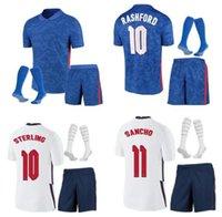 الكبار و Kids Kit England Soccer Jersey 2021 Kane Sterling Rashford Mount Lingard Vardy Dele 21 22 National Football Shirt Men + Kids Kit مجموعات الجوارب موحدة