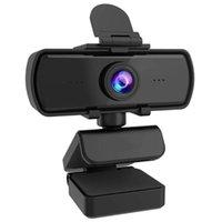 Webcams 1080p 2k câmera web de computador com tripé de capa seguro para laptop desktop webcam built-in mic mix cam