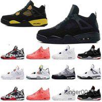 basketballs Shoes, White X Sail Jumpman 4 4s sneakers Kaws Travis Scotts Sports Shoe, Cactus Jack Cool Grey Men Women Trainer TY6N