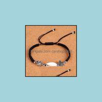 Jewelryshells Starfish Turtle Charm Braided Bracelets Anklet Hand Woven Boho Rope Bracelet Surfer Hawaiian Summer Beach Jewelry For Men Wome