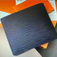 M60332 N63263 N62663 M60895 erkek şort cüzdan ince klasik lüks tasarımcı tuval deri cep kısa iki kat cepler cüzdan kutusu ile