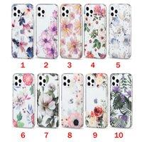 Clear Floral à prova de choque mulheres meninas caixinhas de telefone celular para iphone 12 11 pro max xr xs 8 7 mais imd bela flor padrão capa de celular