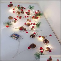 Event Festive Supplies & Gardenchristmas Decoration Led String Lights Battery Powered Copper Wire Starry Fairy Light Outdoor Garden Home Par
