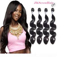 10a Grad Högkvalitativ brasiliansk mänsklig hårförlängning 4st Body Wave Peruvian Indian Hair Buntles Malaysian Remy Hair Weaves 10-30 inches