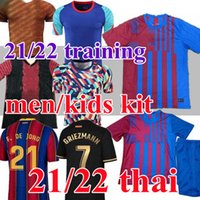 جديد أعلى 21/22 باركا ansu fati Soccer Jerseys Training 2021 ميسي Griezmann F.de Jong Coutiniho Alba Braithwaite Men Kids Kits Football Jersey