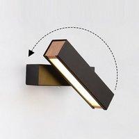 270 ° Rotação Ajustável Moderna LED Wall Light Minimalista Lâmpada Nórdica para Bedroom Beedside Hallway Sconce